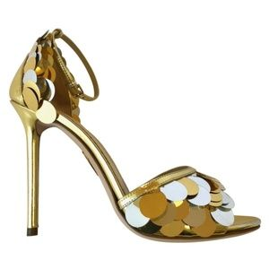 New Charlotte Olympia Gold Heel w/ Pailletes